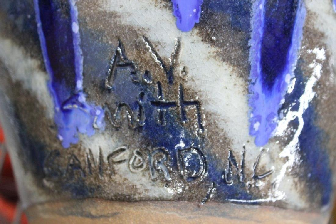 "Ceramic ""Snakes"" Vase by AV Smith - 3"