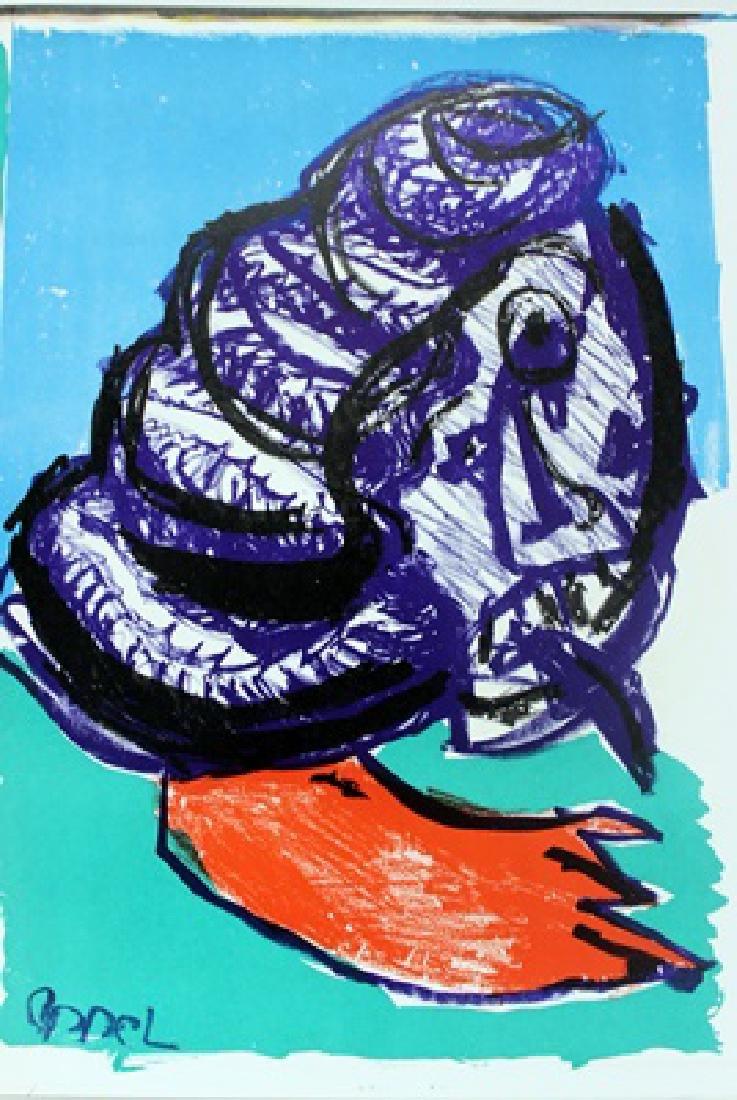 Original Signed Lithograph Karel Appe