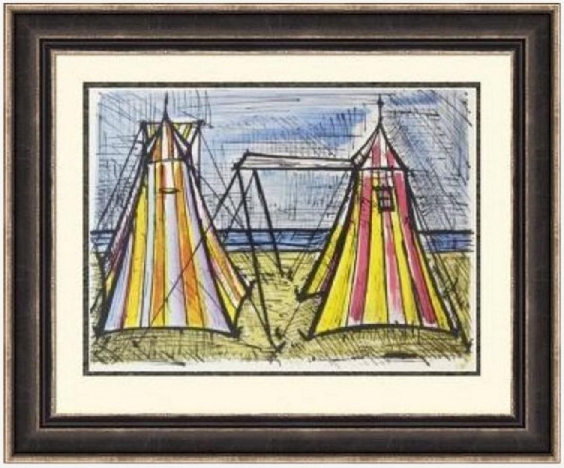 Lithograph Bernard Buffet  Tents