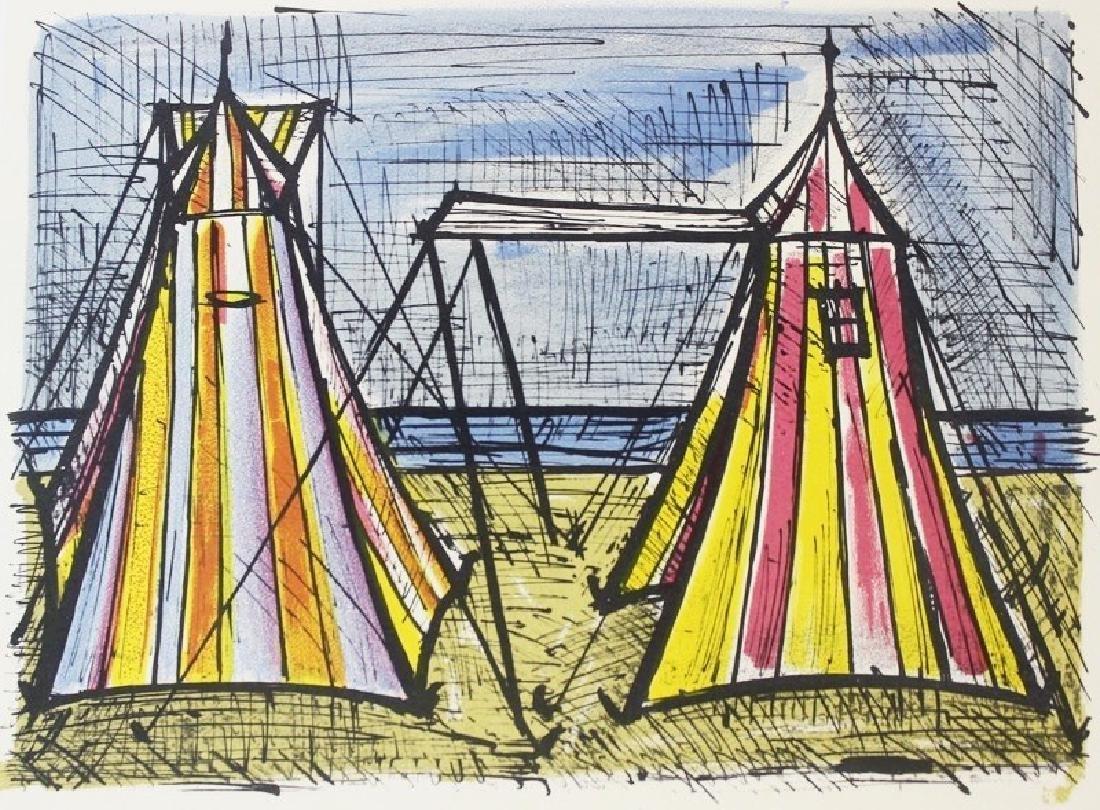 Lithograph Bernard Buffet  Tents - 2