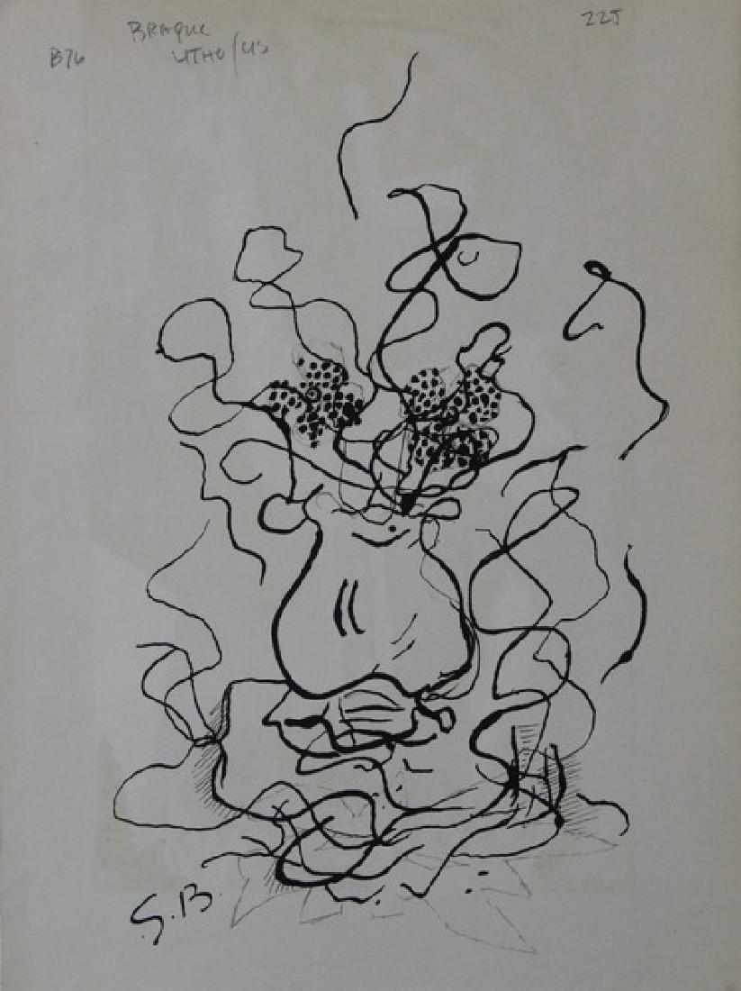 Lithograph Georges Braque - Frontice Piece Verve 1952 - 2
