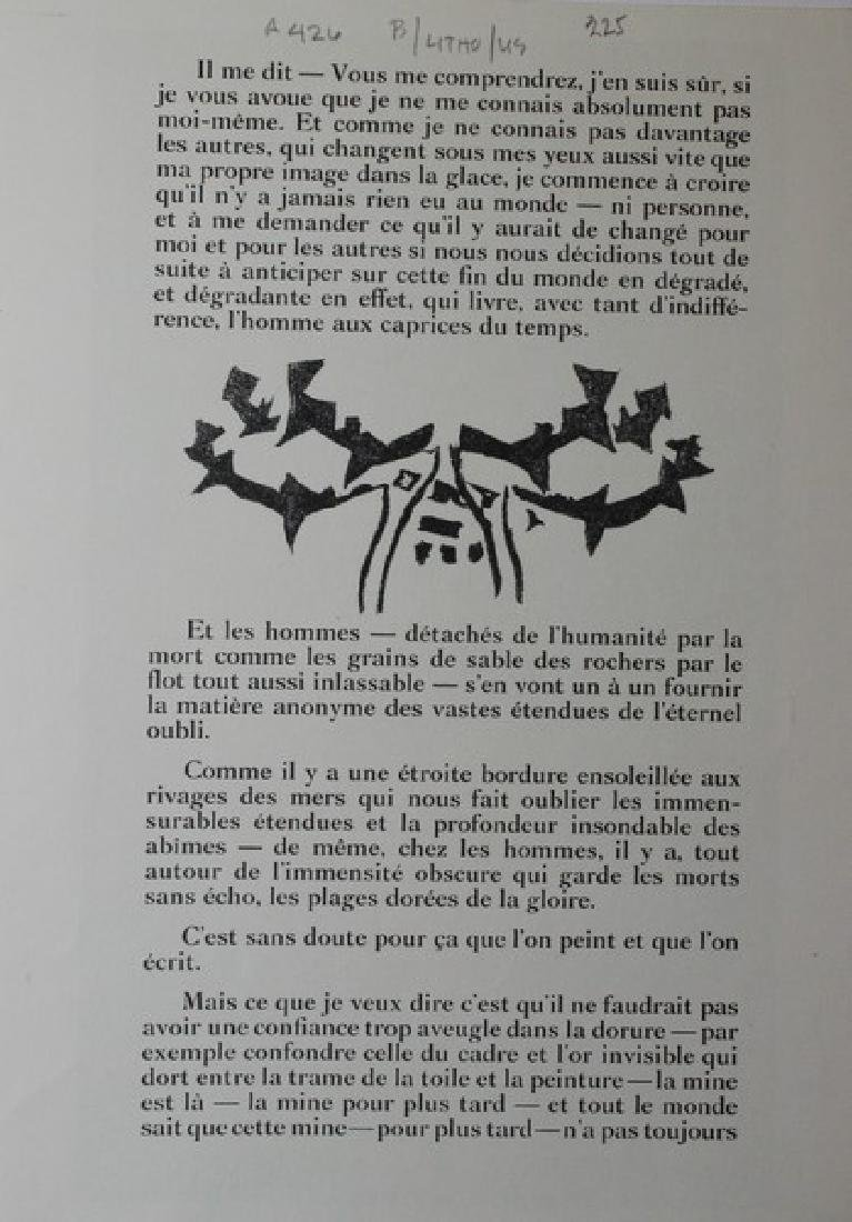Lithograph Georges Braque -  Zelos - 2