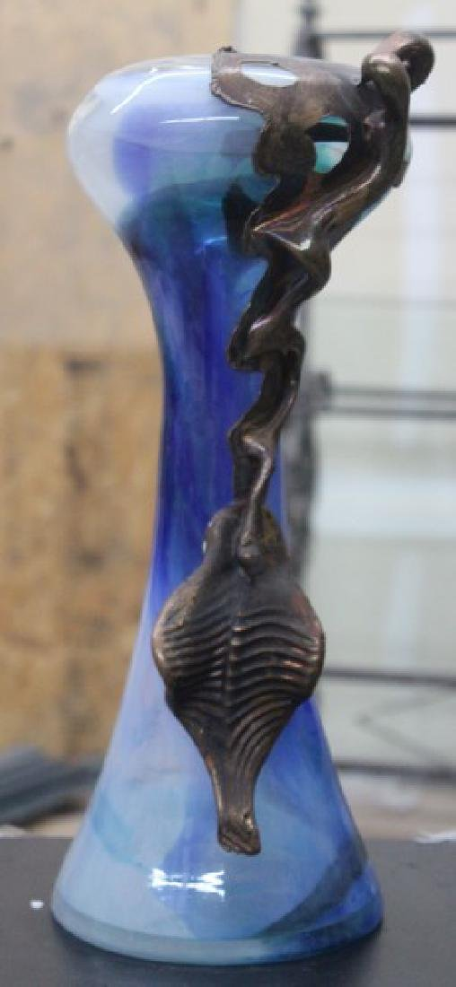 Hand Blown Glass Vase