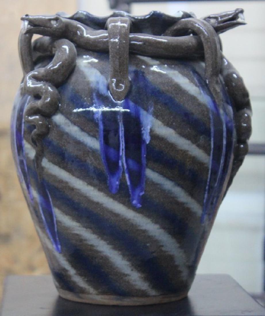 "Ceramic ""Snakes"" Vase by AV Smith"