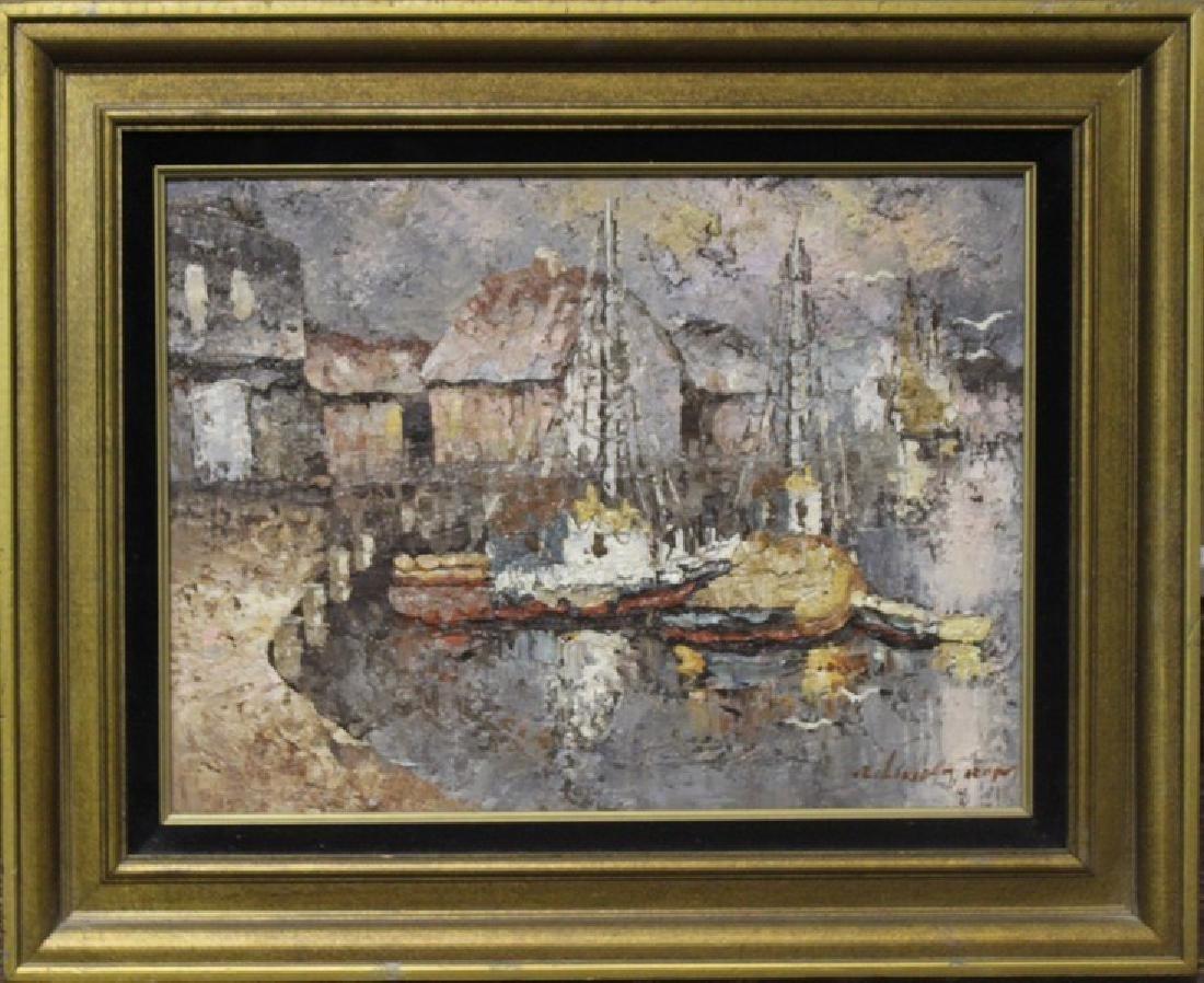 Harbor - Original Acrylic Painting