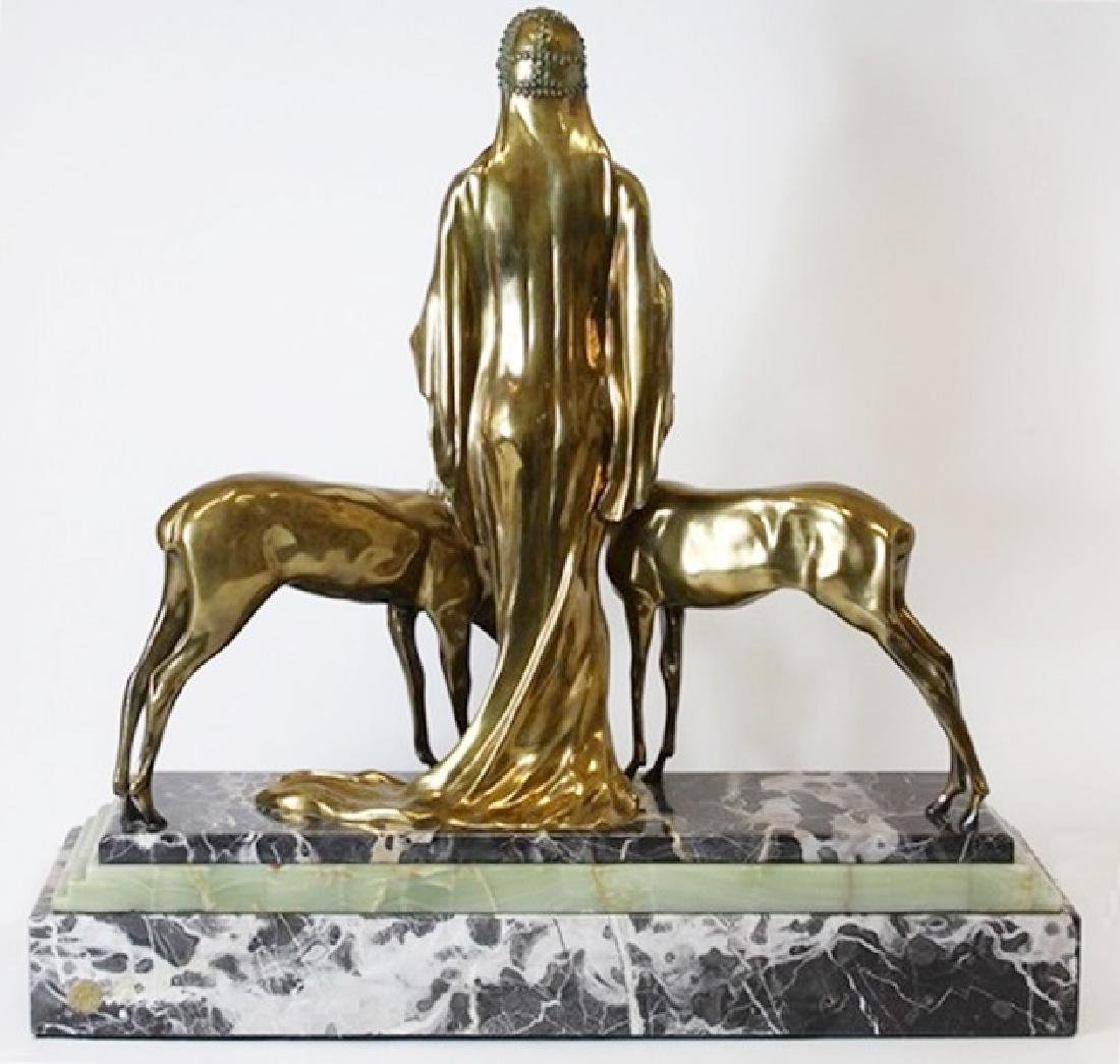 Two-Tone Bronze Sculpture - 3