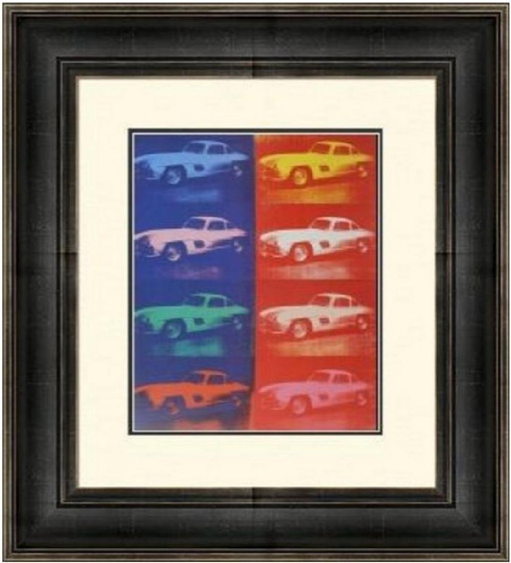 Lithograph by Andy Warhol -Mercedes-Benz 300SL Coupe