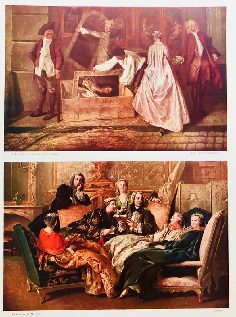 """Original Lithograph """" La Lecture De Moliere, Fragment"""" - 2"""