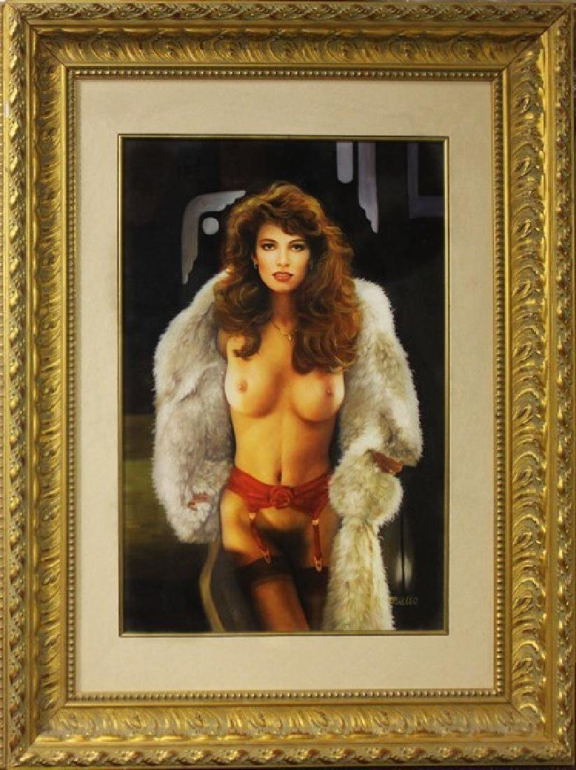 Brunnette with Fur Coat, Oil 53x40