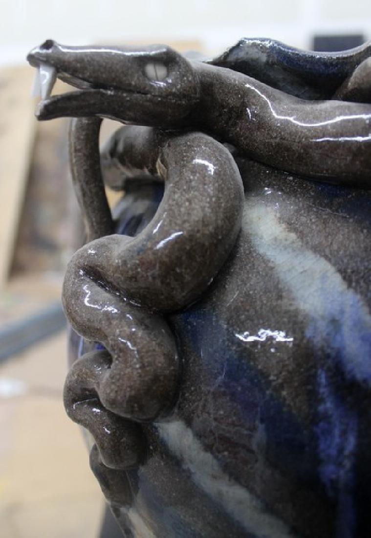 "Ceramic ""Snakes"" Vase by AV Smith - 2"