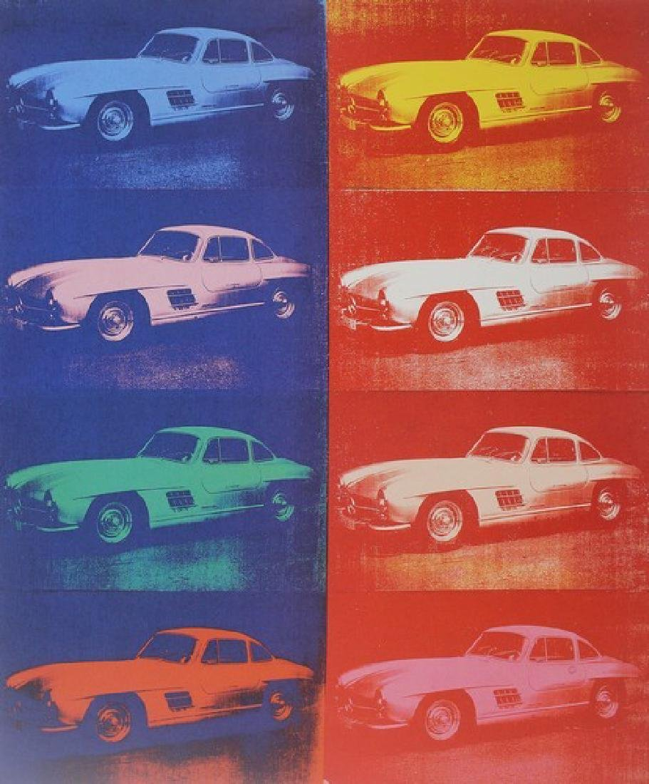 Lithograph by Andy Warhol -Mercedes-Benz 300SL Coupe - 2