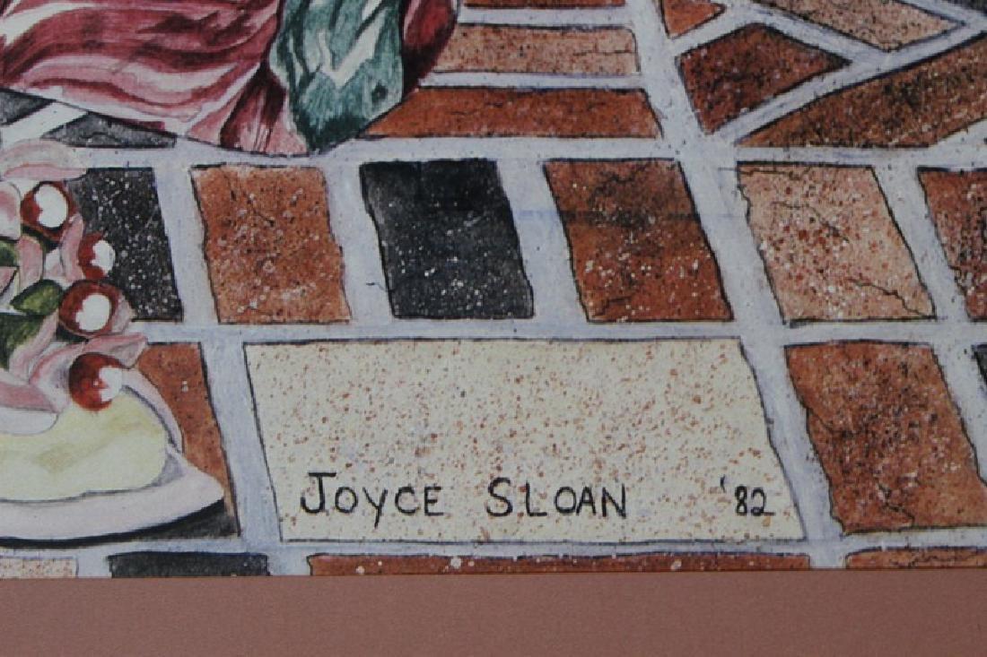 Signed Lithograph Joyce Sloan - Girl Talk - 2