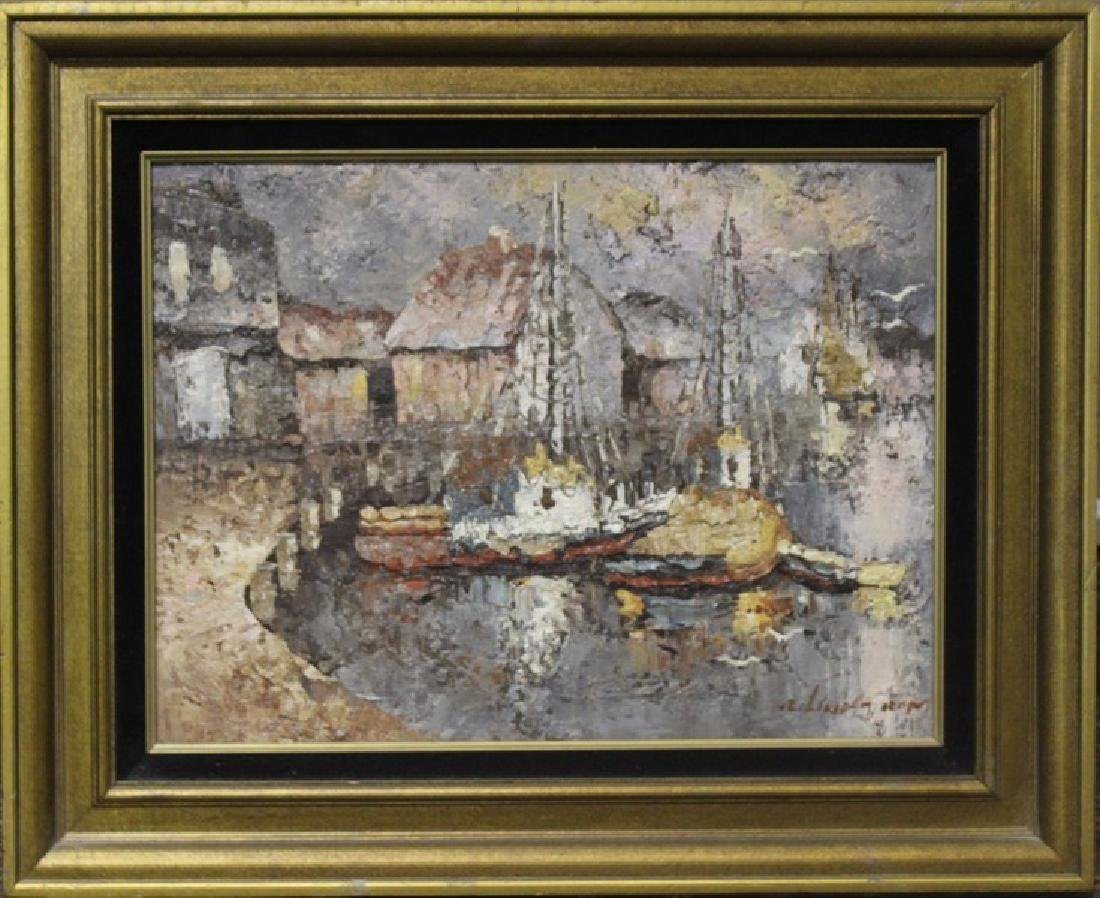Harbor - Original Acrylic Painting