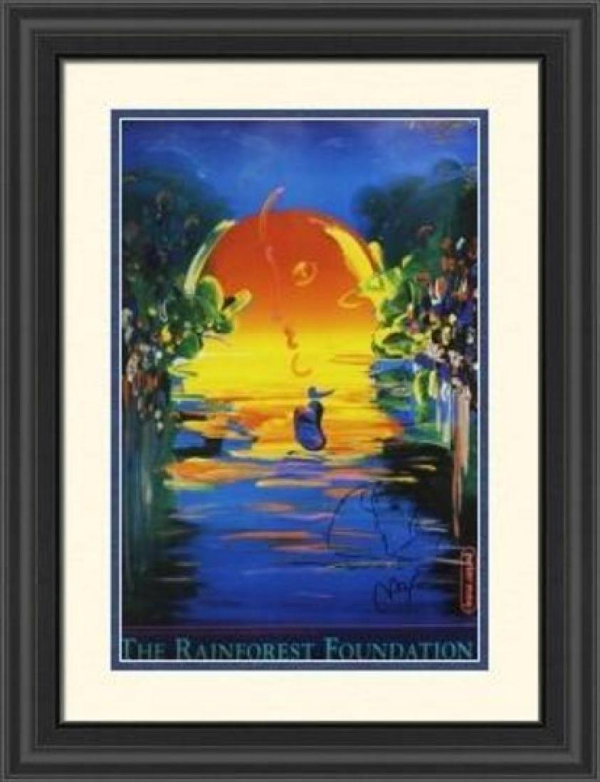 Hand Signed Peter Max Mixed Media - Better World