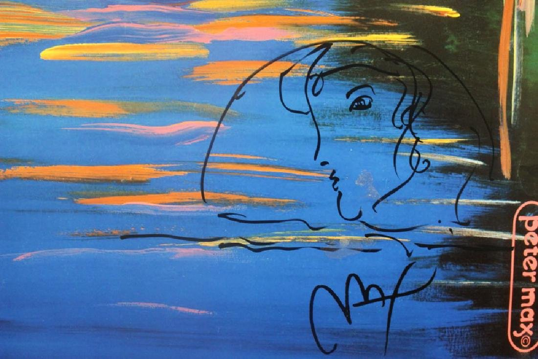 Hand Signed Peter Max Mixed Media - Better World - 4