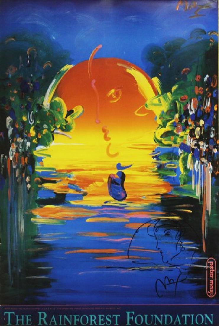 Hand Signed Peter Max Mixed Media - Better World - 2