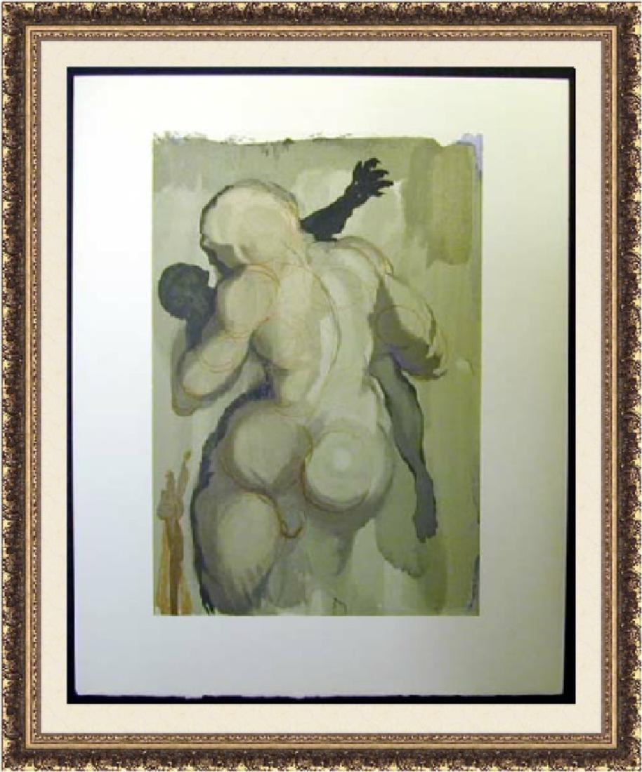 Salvador Dali Woodblock - The Neglectful meets  violent