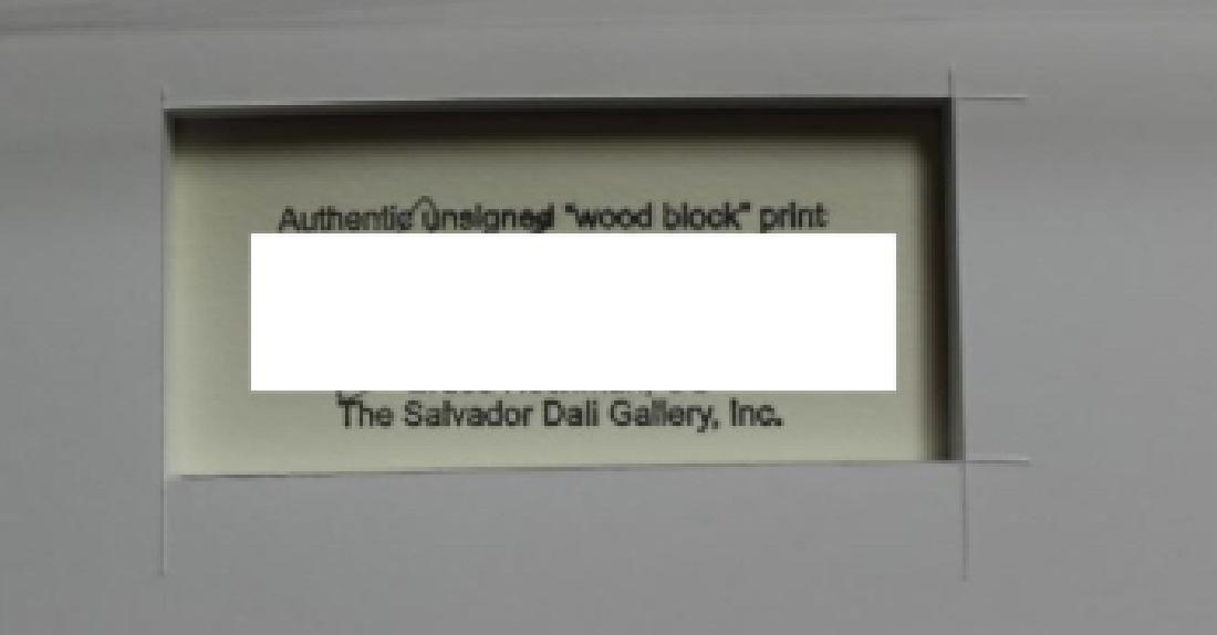 Salvador Dali Woodblock - The Neglectful meets  violent - 2