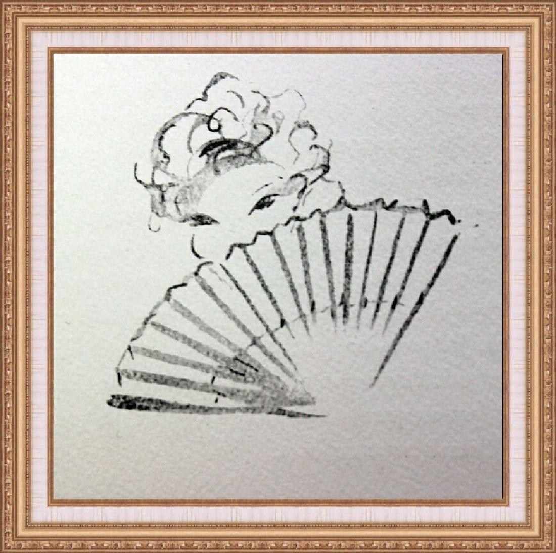 Original Lithograph Culs-De Lampe Louis Icart