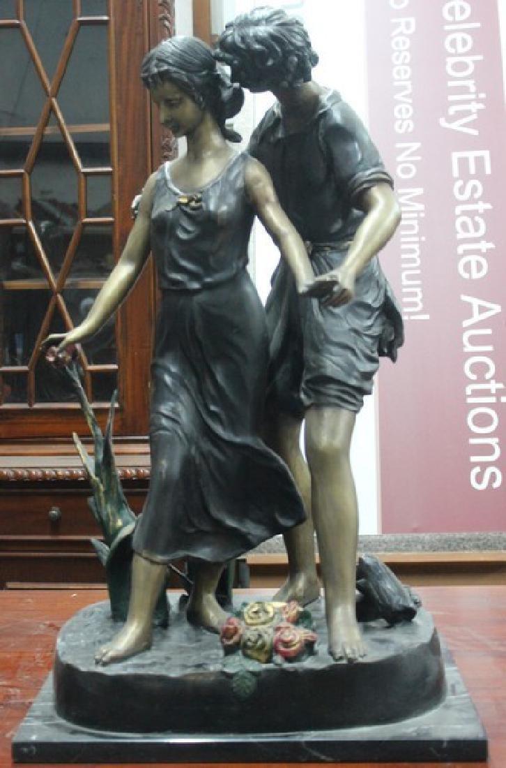 Walk in the Park - Bronze Sculpture