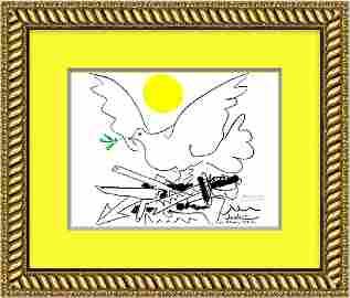 """""""Dove with Sun""""- Pablo Picasso 1962"""