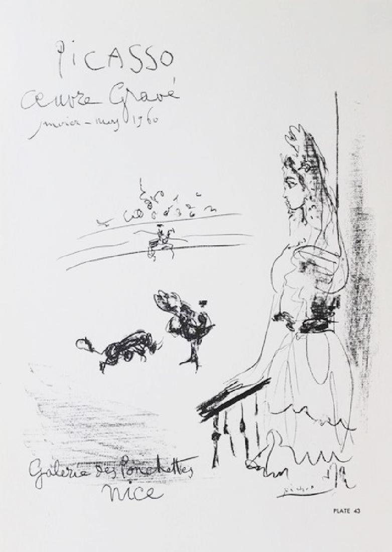 Lithograph Pablo Picasso Galerie des Ponchettes 1960 - 2