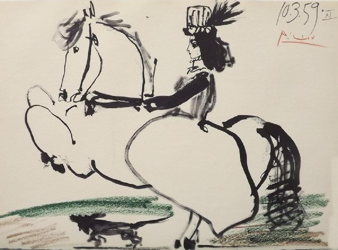 Woman on Horse II by Pablo Picasso - 2
