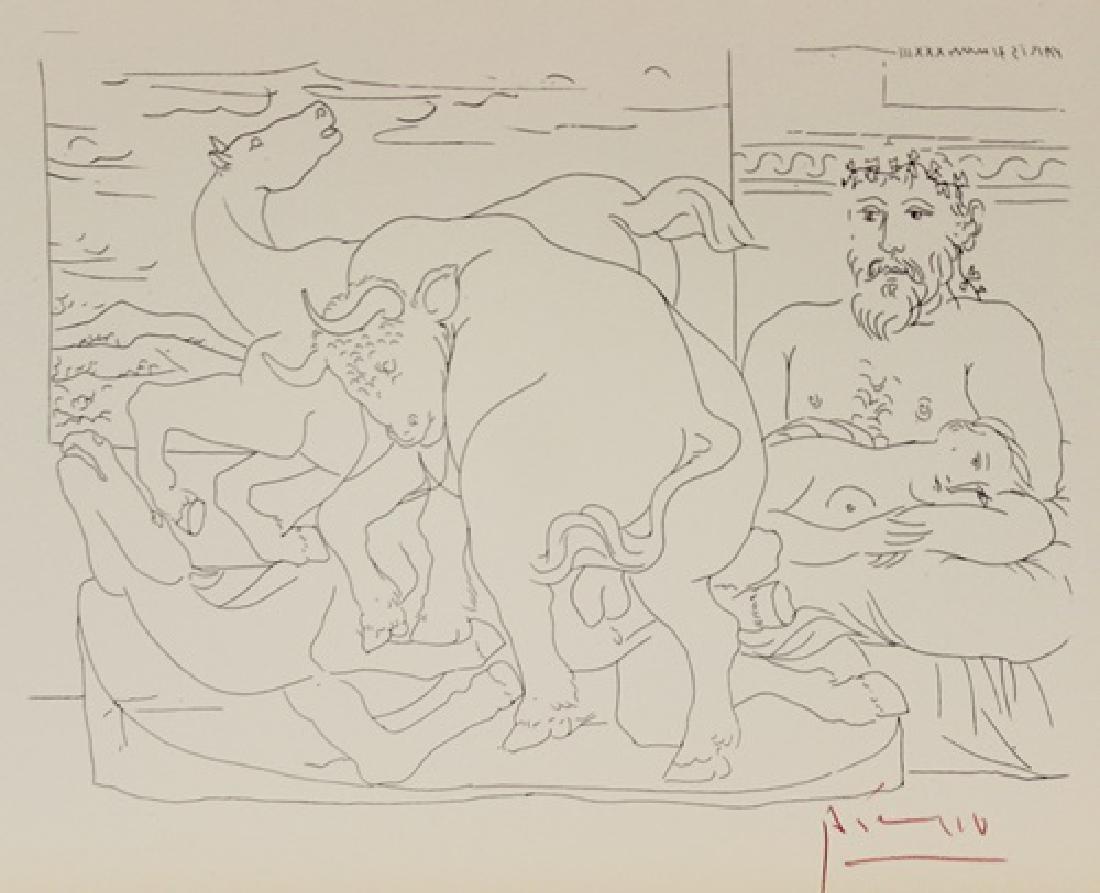 Lithograph Pablo Picasso Frederuc Jolist Curie, Plate - 2