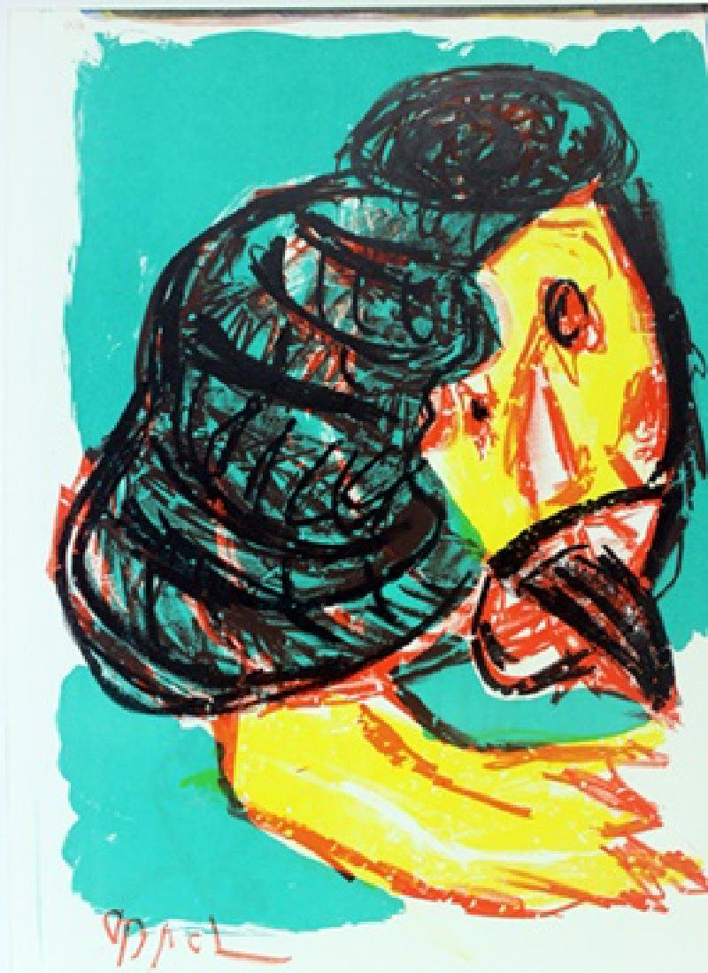 Original Signed Lithograph Karel Appel
