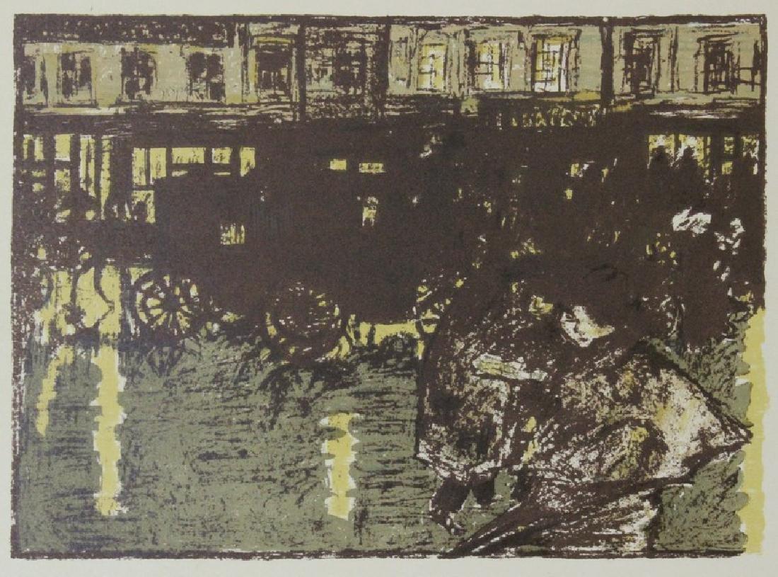 Rue, le Soir, Sous la Pluie - P. Bonnard