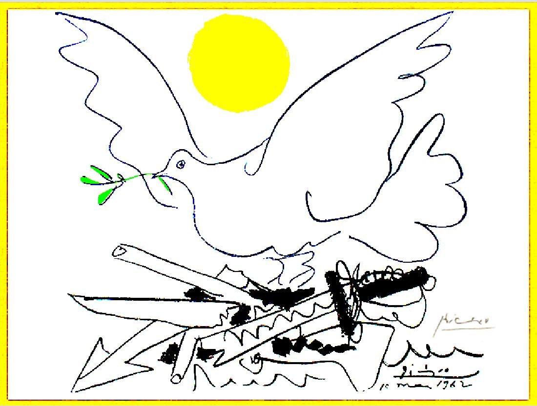"""""""Dove with Sun""""- Pablo Picasso 1962 - 2"""