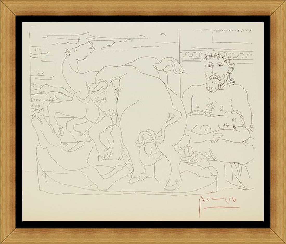 Lithograph Pablo Picasso Frederuc Jolist Curie, Plate