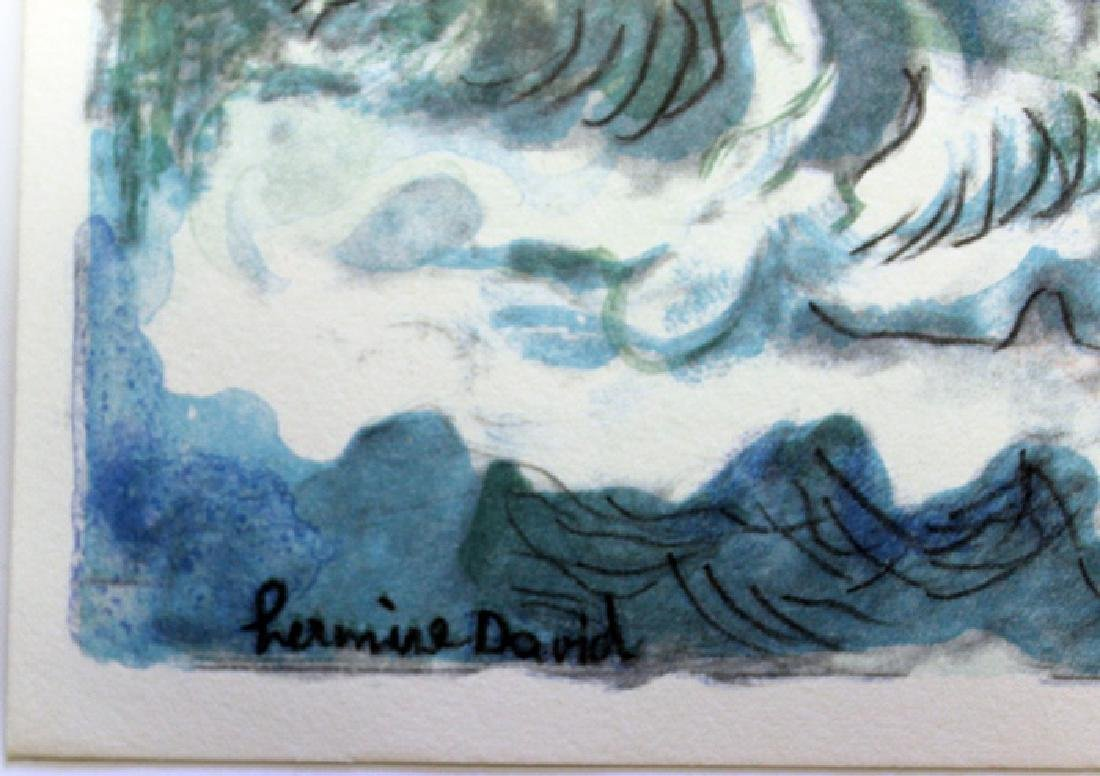 Signed Lithograph by Hermine David - 3