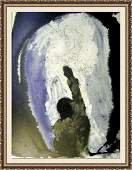 Signed Dali Biblia Sacra Lithograph