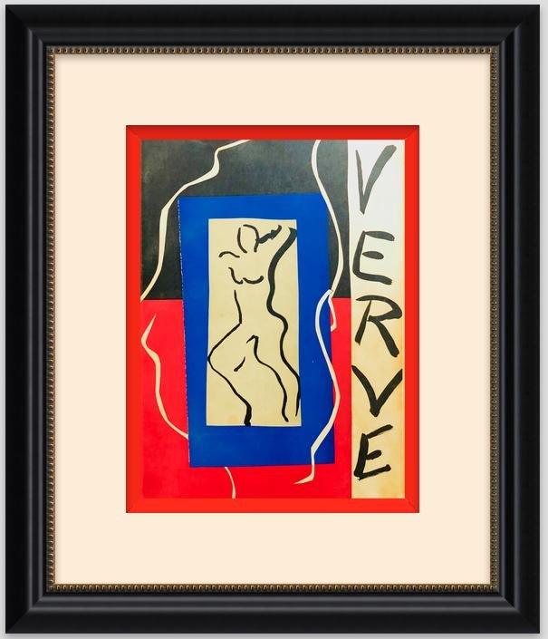 "#1 Henri Matisse Original Lithograph ""Cover ""-1937"