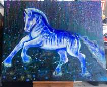 """""""HORSE""""-Original Painting by Gaylord Soli 48x60"""
