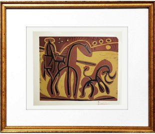For Auction: Signed Picasso ORIGINAL Linocut Homme a la