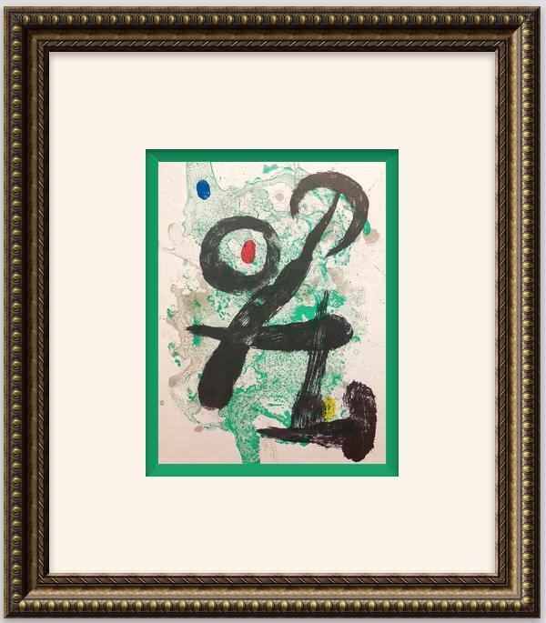 """Original Lithograph """"El Reco"""" 1946- Joan Miro"""