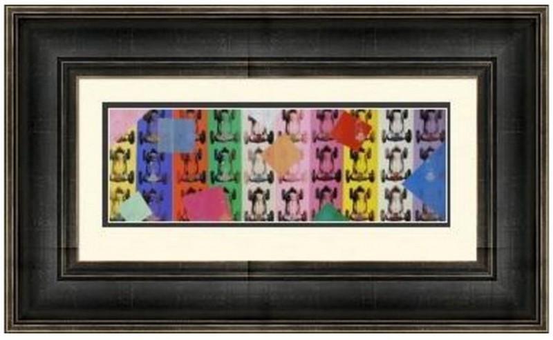 Lithograph by Andy Warhol - Benz Formel-Rennwagen