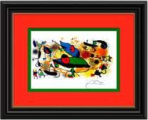 """Ceramique No.2 "" Lithograph 1974' - Joan Miro"