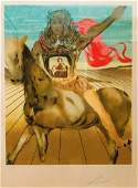 Surrealist KnightOriginal Lithograph  Signed and