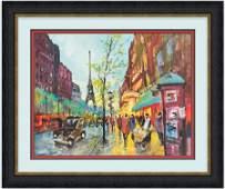 """"""" Paris Scene""""-Original Michael Schofield 24x30"""