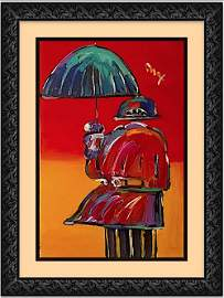 """Umbrella Man""-ORIGINAL PAINTING- Peter Max"