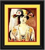 Woman in Flower Hat by Henri Matisse