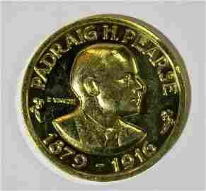 Gold Irish Medallion