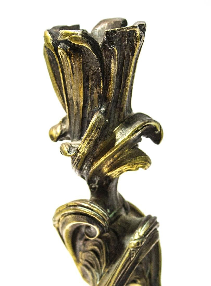 A pair of Rococo French candle sticks - 3