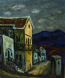 "Moshe Castel - ""Tzfat"" 1940's"