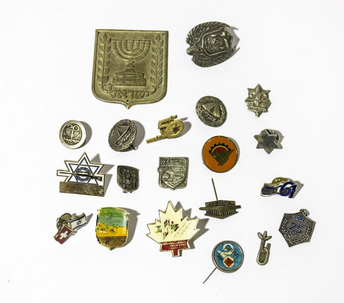 Eighteen different Israeli symbols amongst them A
