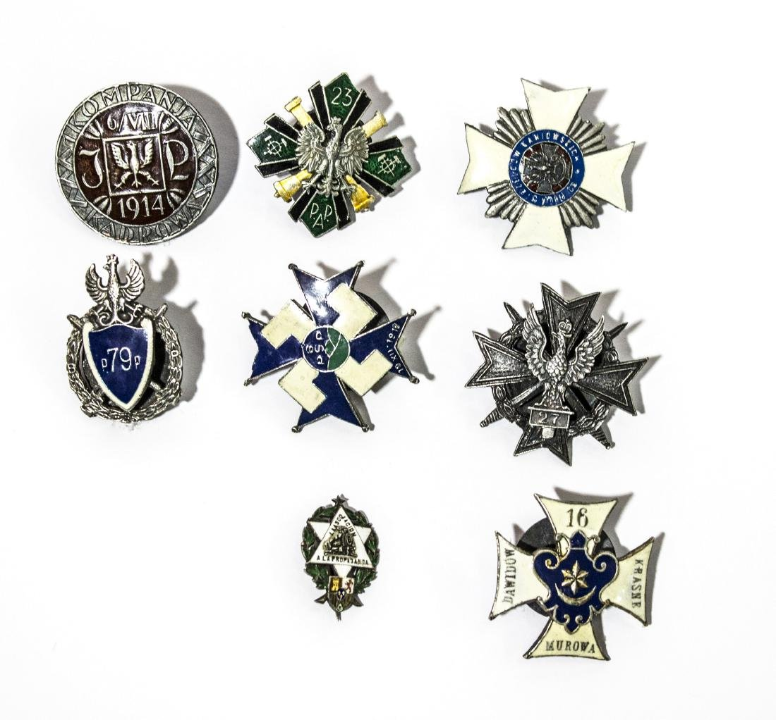 Eight special polish medallions from the first and
