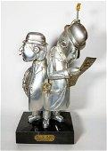 "Frank Meisler- Judaica figurine ""city train"" signed and"